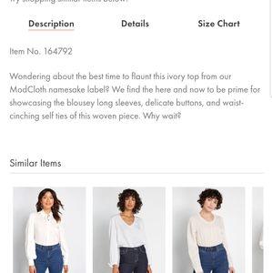 Modcloth Tops - Modcloth present moment long sleeve K2